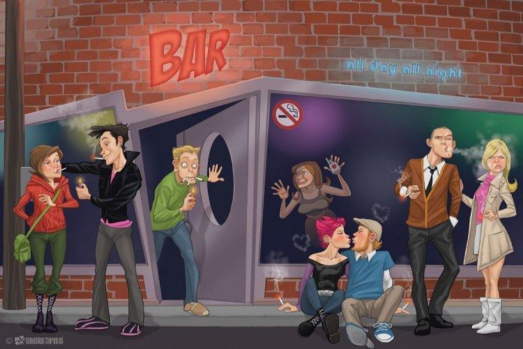 Smirting!! Η νέα τάση που αναπτύσσεται ραγδαία στα bar, μετά την καθολική απαγόρευση του τσιγάρου!!