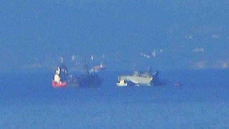 Εμπορικό πλοίο συγκρούστηκε με το ναρκοθηρευτικό Καλλιστώ