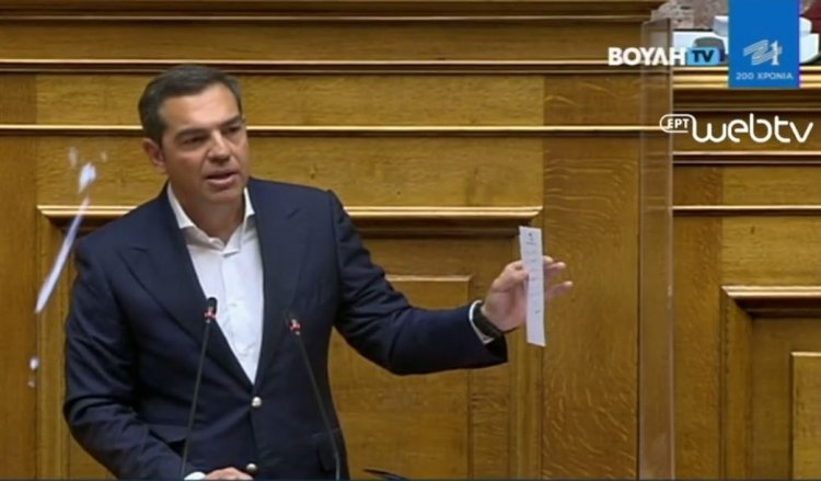SYRIZA leader A. Tsipras: Δώρο στα κολέγια πελατεία 24.000 μαθητών - Δεν έχετε τσίπα για μια συγγνώμη για την Ικαρία