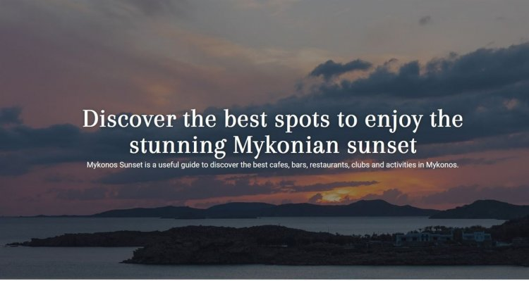 Mykonos Sunset: Explore the best places around Mykonos Island and experience the beauty of Mykonian Sunset