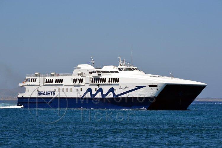 Ferry Routes: Επιστρέφει στη γραμμή Πειραιάς-Σύρος-Μύκονος-Νάξος-Σαντορίνη το Power Jet - Δρομολόγια