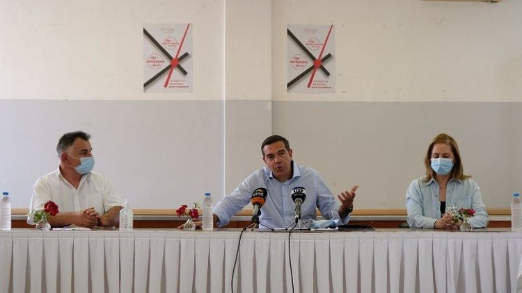 SYRIZA leader Alexis Tsipras: Η κυβέρνηση έχει επιλέξει να διαλύσει τις εργασιακές σχέσεις προς όφελος κάποιων λίγων επιχειρηματικών ομίλων
