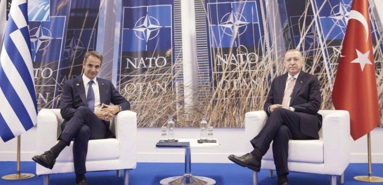 Mitsotakis-Erdogan meeting:  Σε θετικό κλίμα η συνάντηση Μητσοτάκη -Ερντογάν