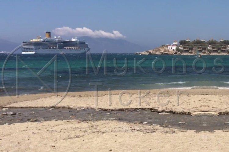 Mykonos Coast Guard: Θαλάσσια ρύπανση από εκροή αστικών μη επεξεργασμένων λυμάτων στον Πλατύ Γιαλό και στην Μεγάλη Άμμο