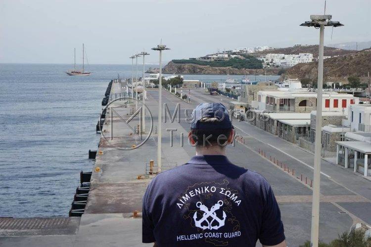 Mykonos Coast Guard: Συλλήψεις για παράνομη είσοδο στην χώρα και παράνομη απασχόληση αλλοδαπού