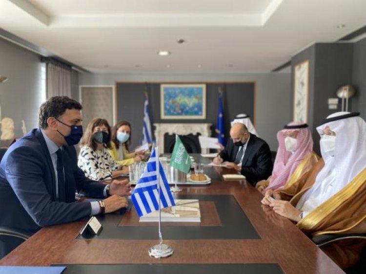 Tourism Policy : Συνάντηση Υπουργού Τουρισμού Βασίλη Κικίλια με τον Υπουργό Επενδύσεων της Σαουδικής Αραβίας