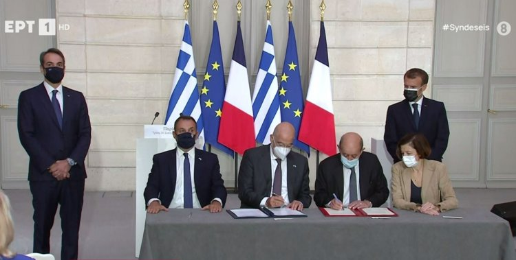 Bilateral contact  Άμεση στρατιωτική συνδρομή της Γαλλίας στην Ελλάδα σε περίπτωση επίθεσης από τρίτη χώρα