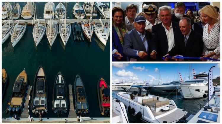 In-Water Boat Show: Η Κατερίνα Μονογυιού στα εγκαίνια της έκθεσης Olympic Yacht Show στο Λαύριο