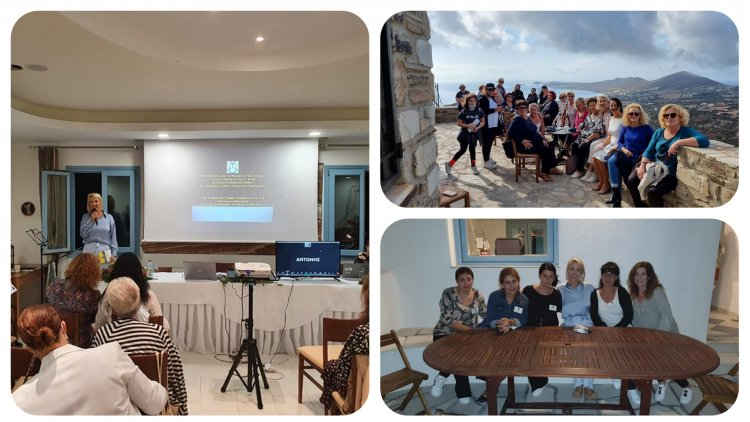 MP katerina Monogiou: Η Κατερίνα Μονογυιού στην Πάρο και την Αντίπαρο για το 12ο Πανκυκλάδικο Συνέδριο Συλλόγων Γυναικών