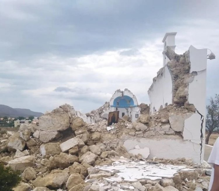 Crete earthquake: Κατέρρευσε το εκκλησάκι του Αγίου Νικολάου στον Ξερόκαμπο Σητείας