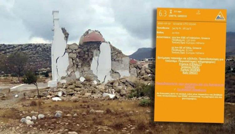 Crete earthquake: Προειδοποίηση για τσουνάμι εξέδωσε το Ευρωμεσογειακό Σεισμολογικό Κέντρο μετά τον σεισμό 6,3 Ρίχτερ στη Κρήτη