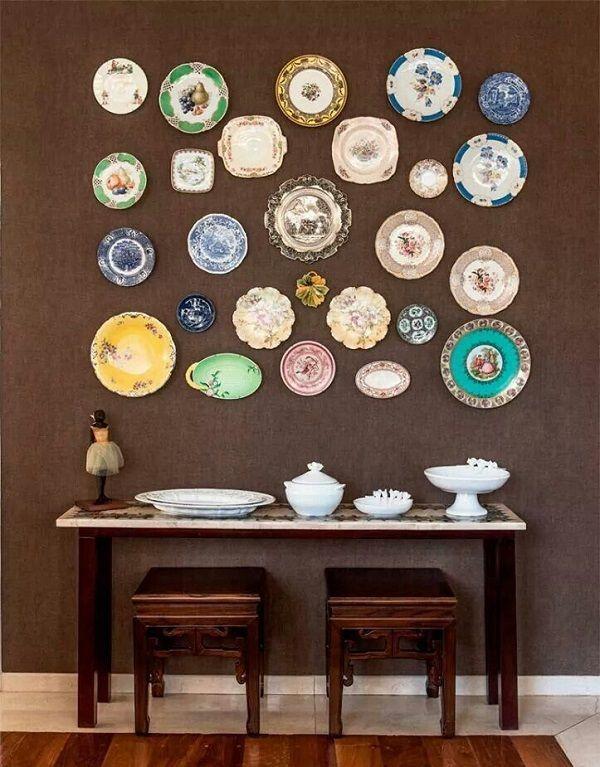 , 45 Διακοσμητικές Ιδέες με… πιάτα στους τοίχους!!
