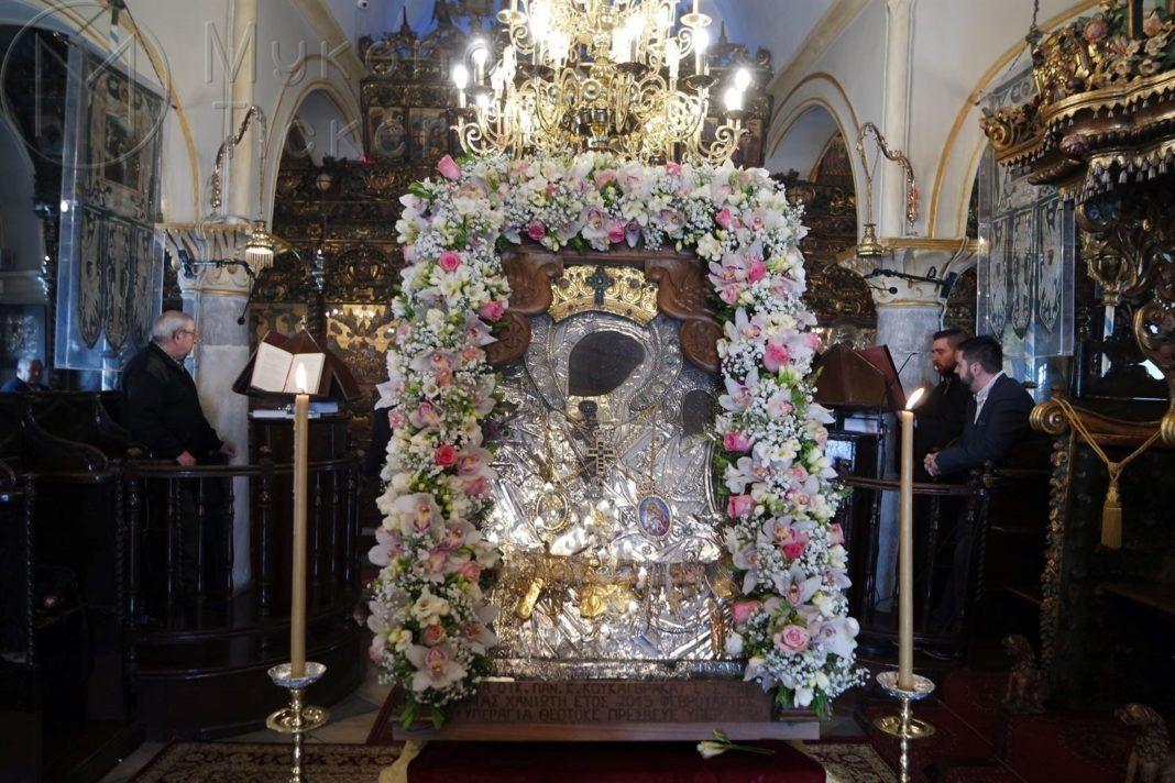 , Πρόγραμμα Ιερών Ακολουθιών εορτασμού της Κοιμήσεως της Θεοτόκου στην Ι.Μ. Παναγίας Τουρλιανής